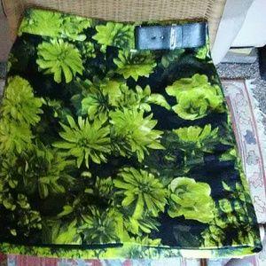 Michael Michael Kors floral print skirt.